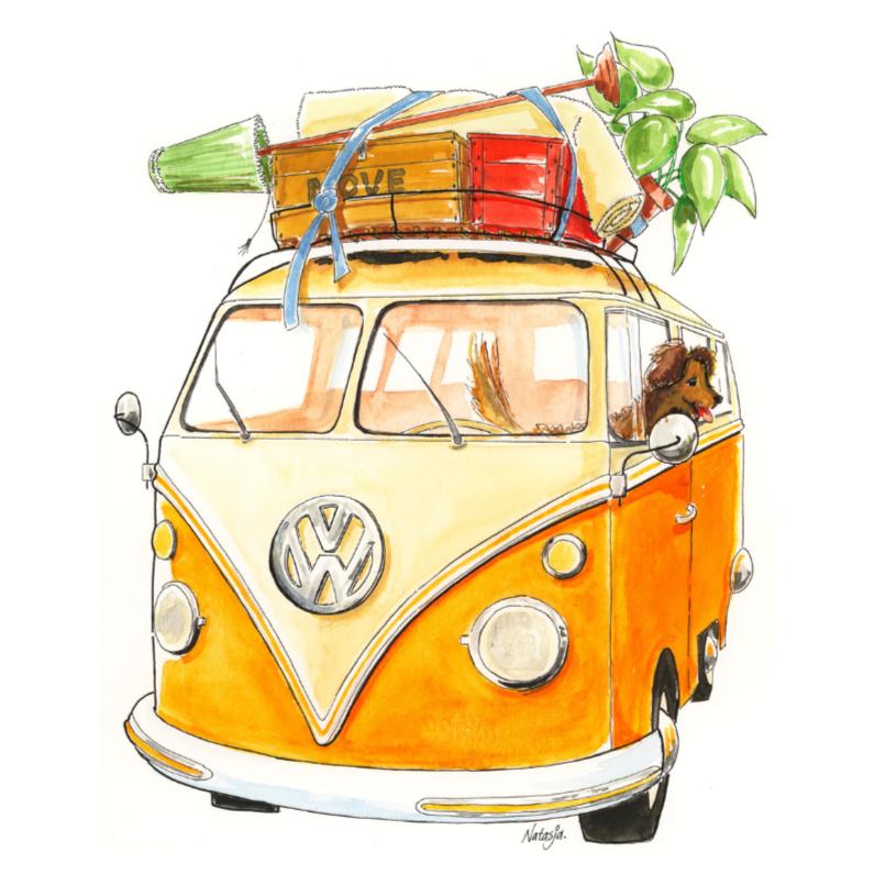 Verhuiskaart Volkswagen busje 1