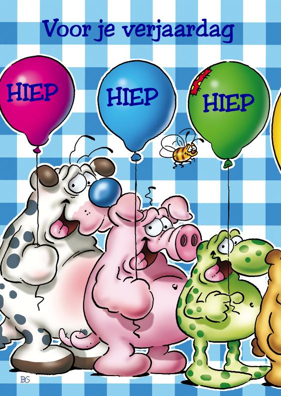 verjaardag 14 beestjes met ballonnen 1