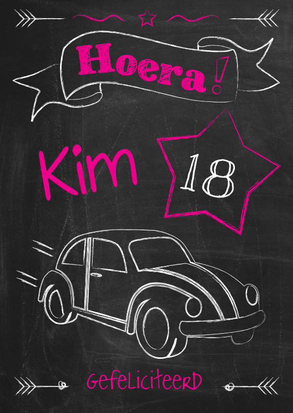 Verjaardag 18 jaar auto-ByF 1