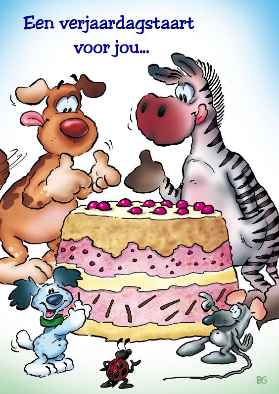 verjaardag 20 beestjes met taart 1