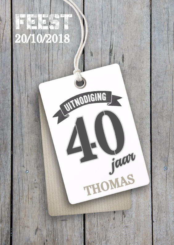 Verjaardag 40 jaar uitnodiging 1