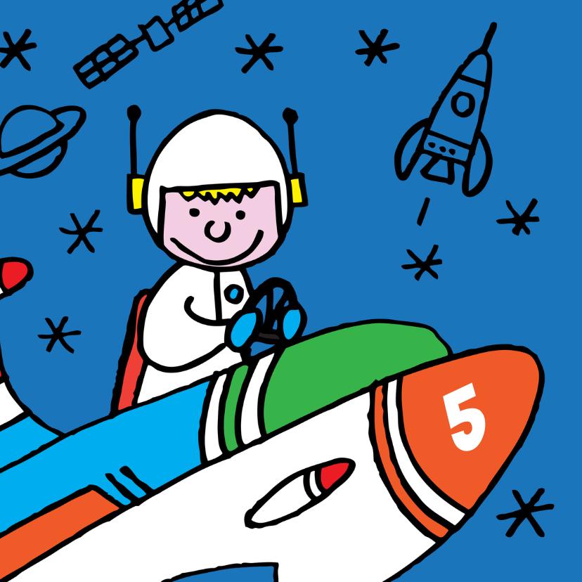 verjaardag - astronaut  - raket 1