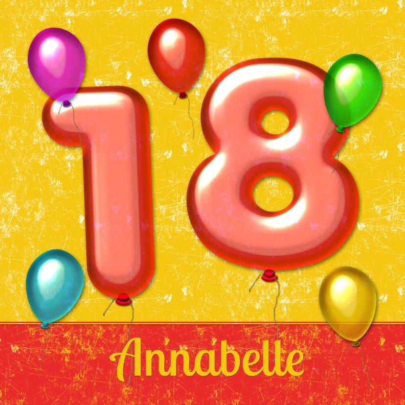 verjaardag ballonnen 18 jaar 1