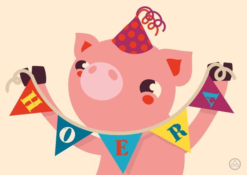 Verjaardag biggetje , feest, NK 1
