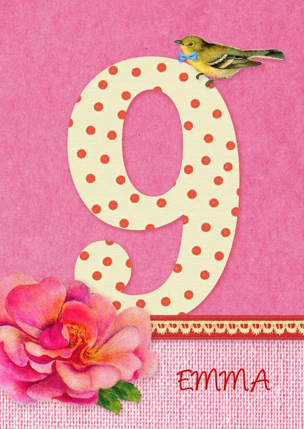 Verjaardag bloem meisje 9 1