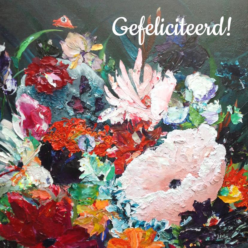 Verjaardag bloemen schilderij 1