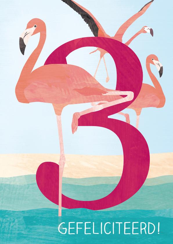 Verjaardag flamingo 3 jaar 1