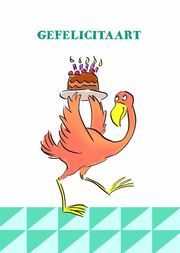 Verjaardag Flamingo Taart v2 1
