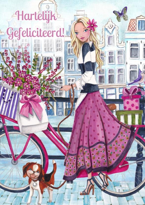 Verjaardag Illustratie fiets 1