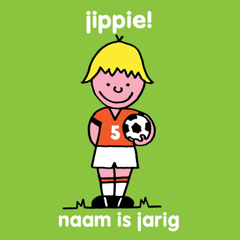 verjaardag jongen oranje voetbal 1