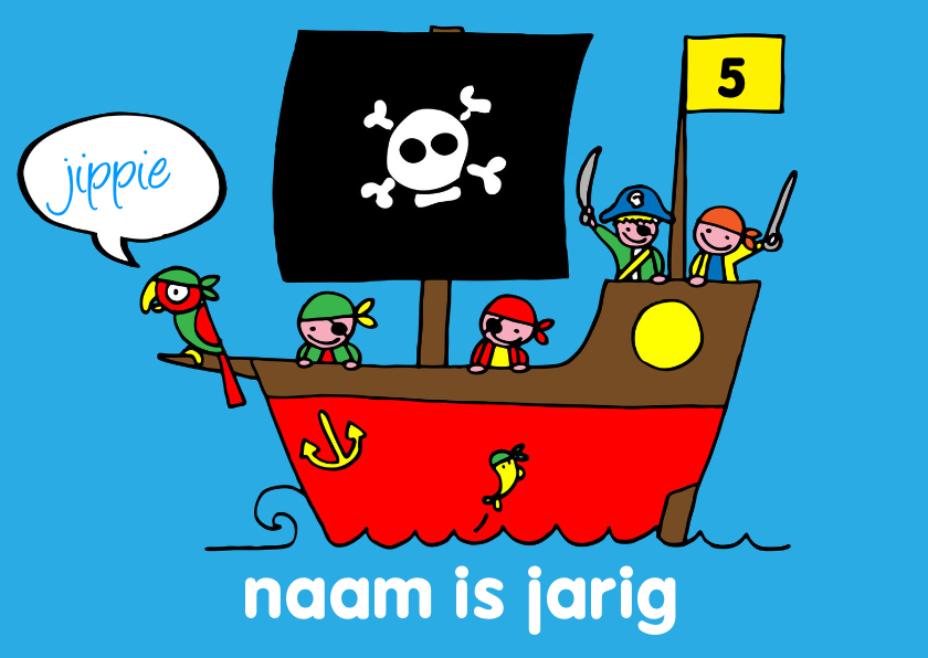 verjaardag jongen stoer piraten 1