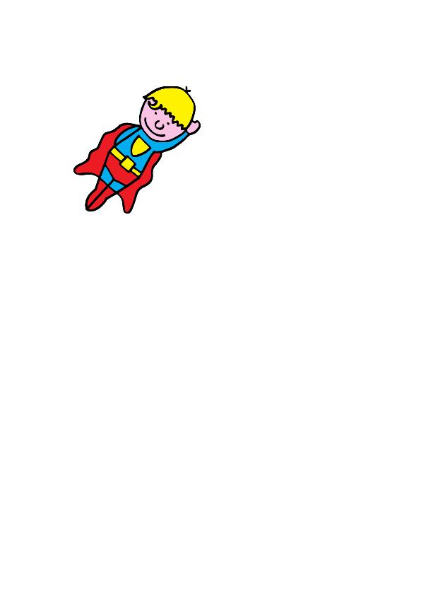 verjaardag jongen superman blond 2