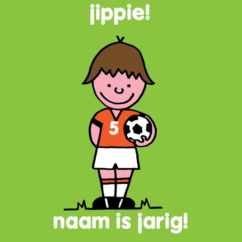 verjaardag jongen voetbal oranje 1
