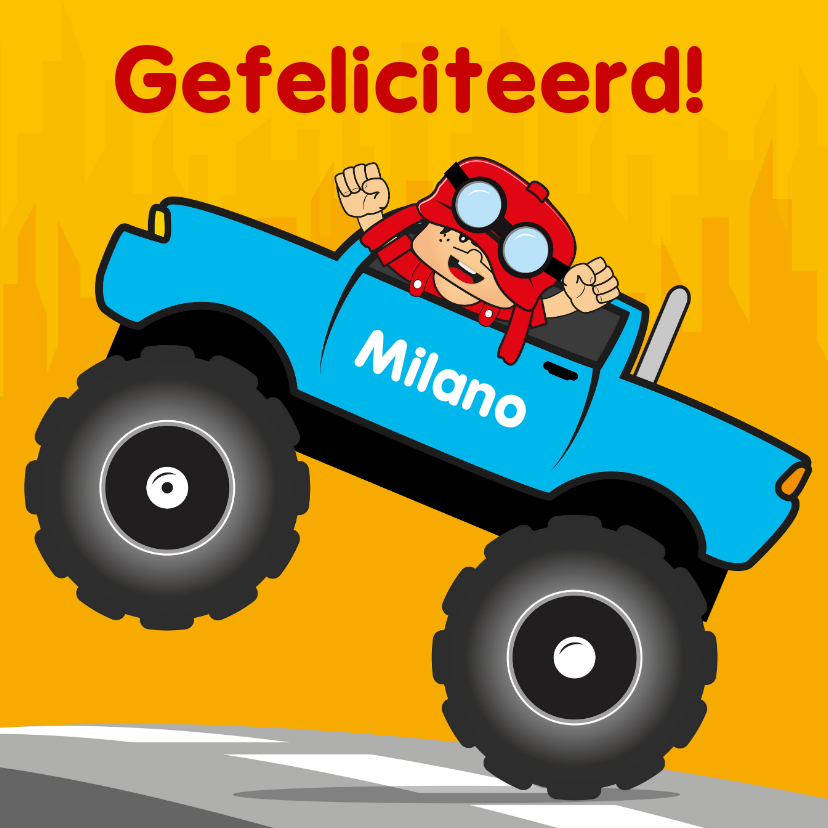 verjaardag kinderfeest monstertruck 2 1