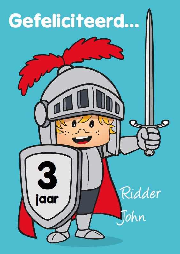 verjaardag kinderfeest ridder N 1