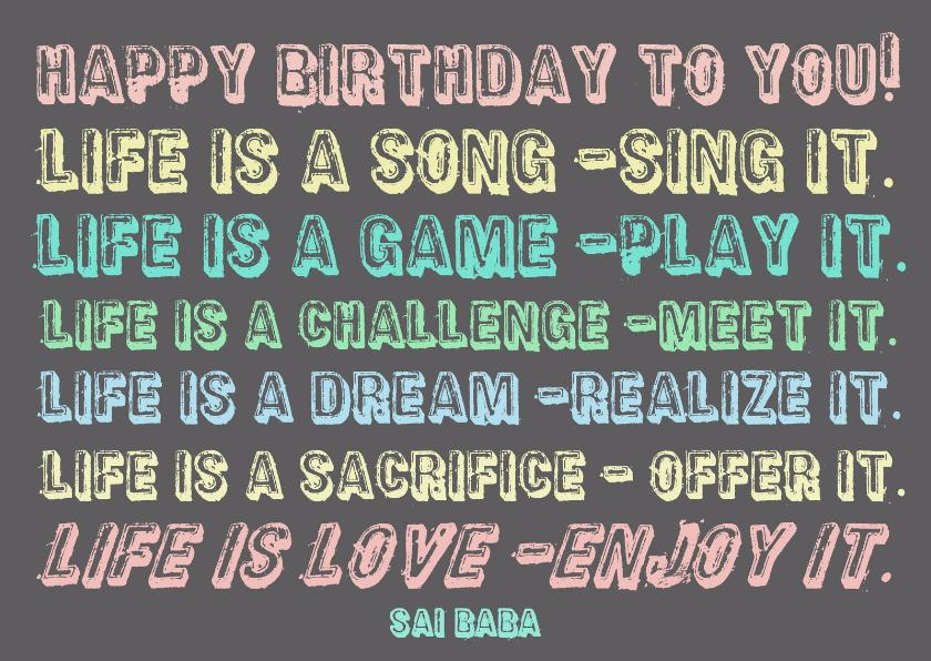 Verjaardag Life is a Dream IW  1