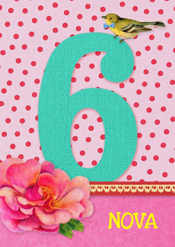 Verjaardag Meisje 6 roze 1