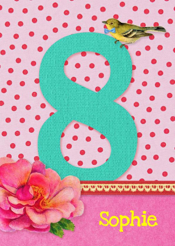 Verjaardag Meisje 8 roze 1