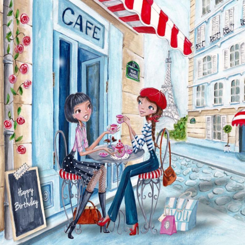 Verjaardag Meisje Parijs Illustratie 1