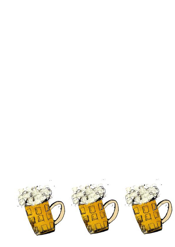 Verjaardag met bier mannen 3