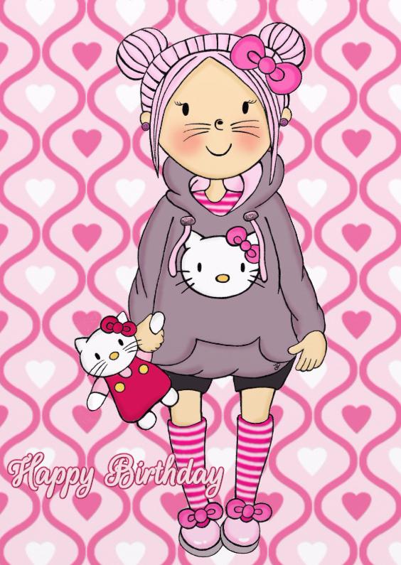 Verjaardag Pastel Kitty - TbJ 1