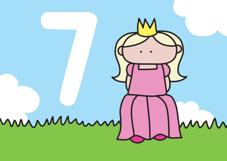Verjaardag Prinses 7 jaar 1