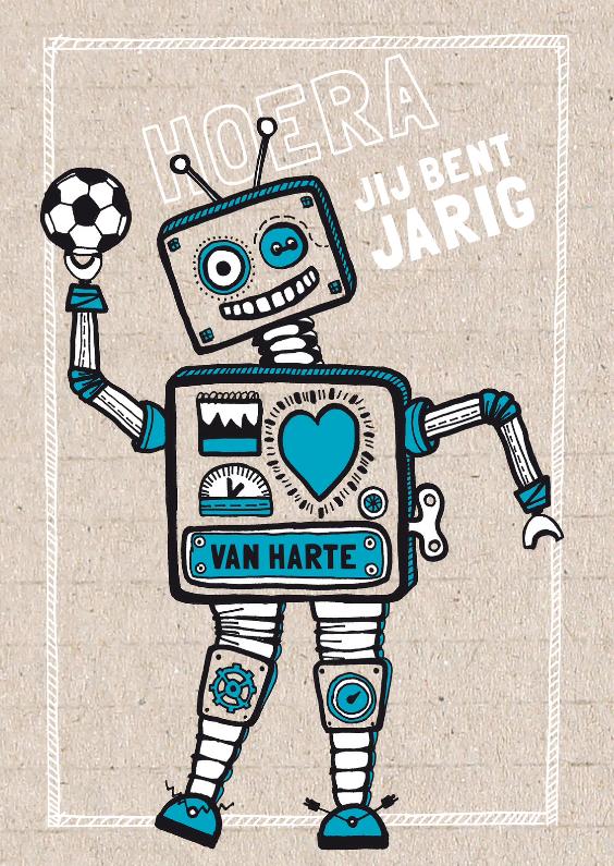 Verjaardag robot jongen 1