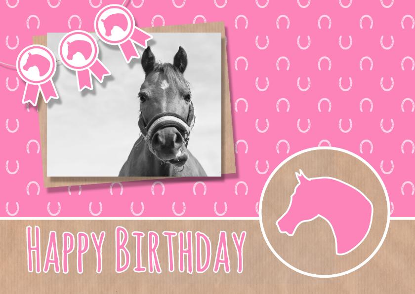 Verjaardag roze paardje 1