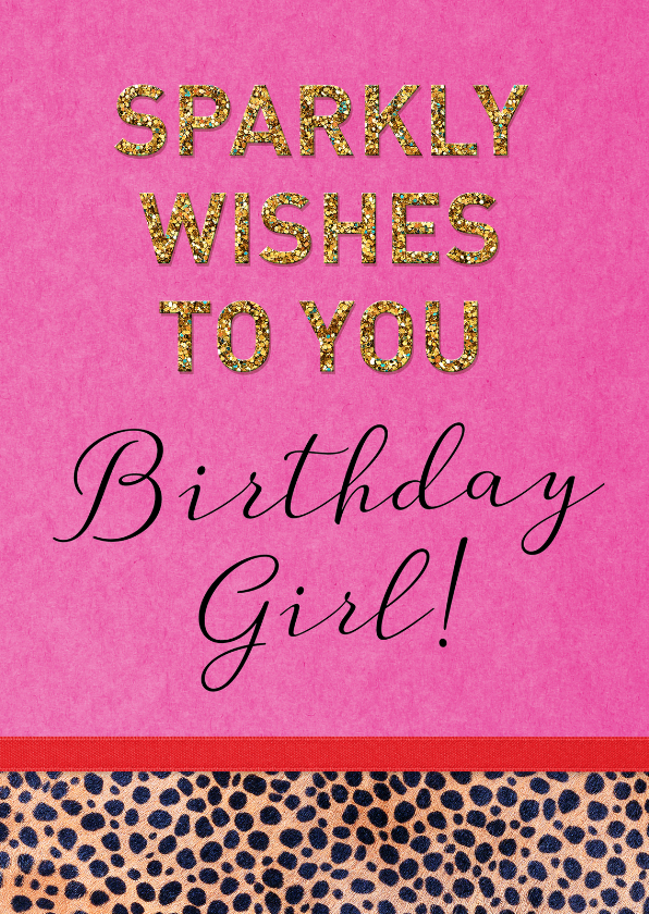 Verjaardag sparkly wishes 1