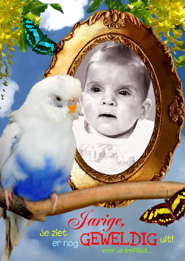 verjaardag Spiegelbeeld vogel 1