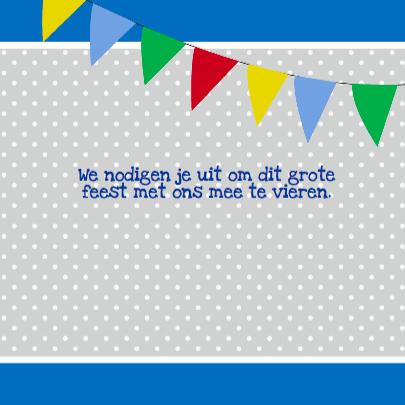 Verjaardag uitnodiging circus blauw 3