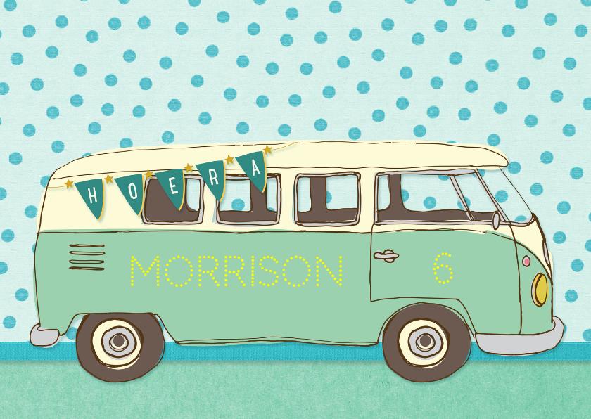 Verjaardag vintage busje 1