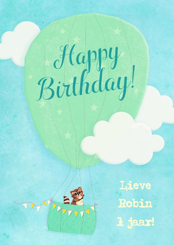 Verjaardag Vintage Luchtballon 1