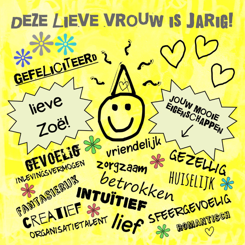 Verjaardag yellow sunshine IW 1