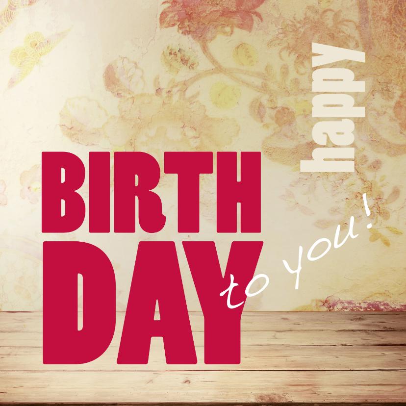 Verjaardagkaart Happy BDAY - SG 1