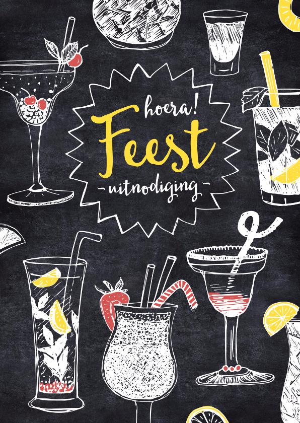 Verjaardagsfeest cocktails krijt 1