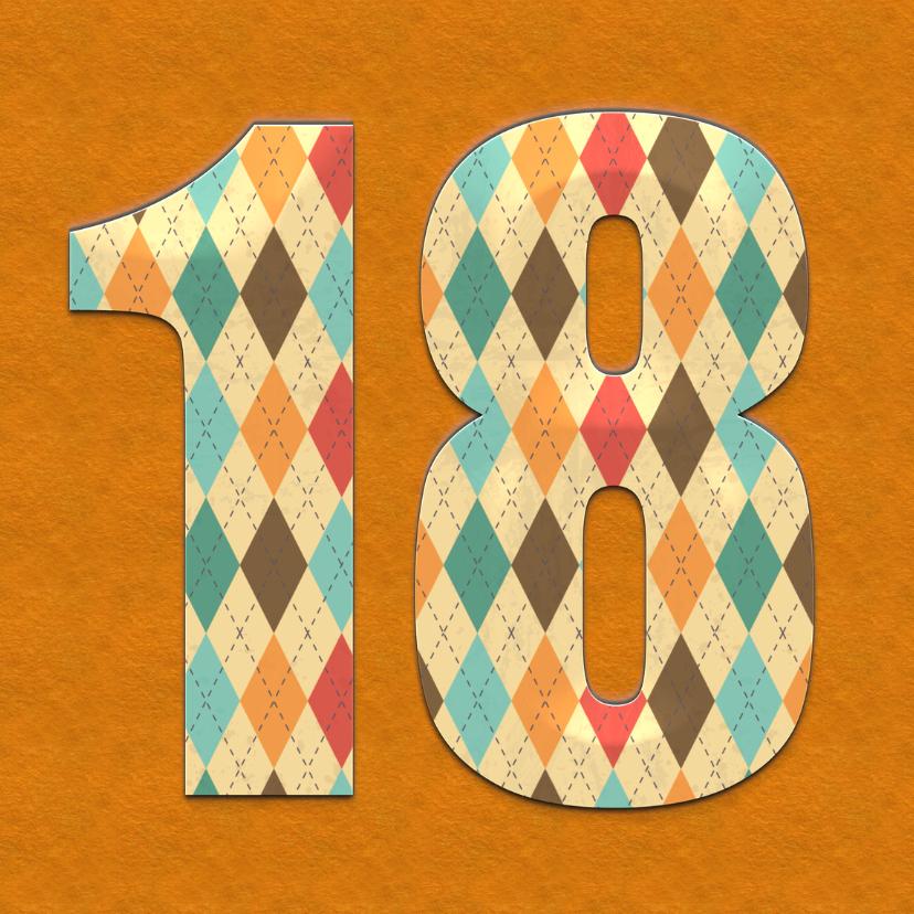 Verjaardagskaart 18 Jaar classic 1