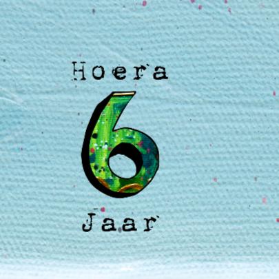 Verjaardagskaart 6 jaar 2