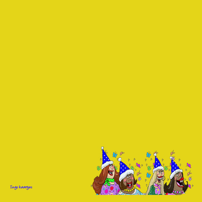 Verjaardagskaart  A capella 3