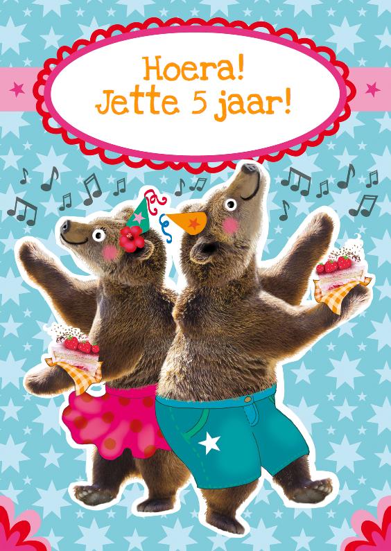 verjaardagskaart beren feestje 1