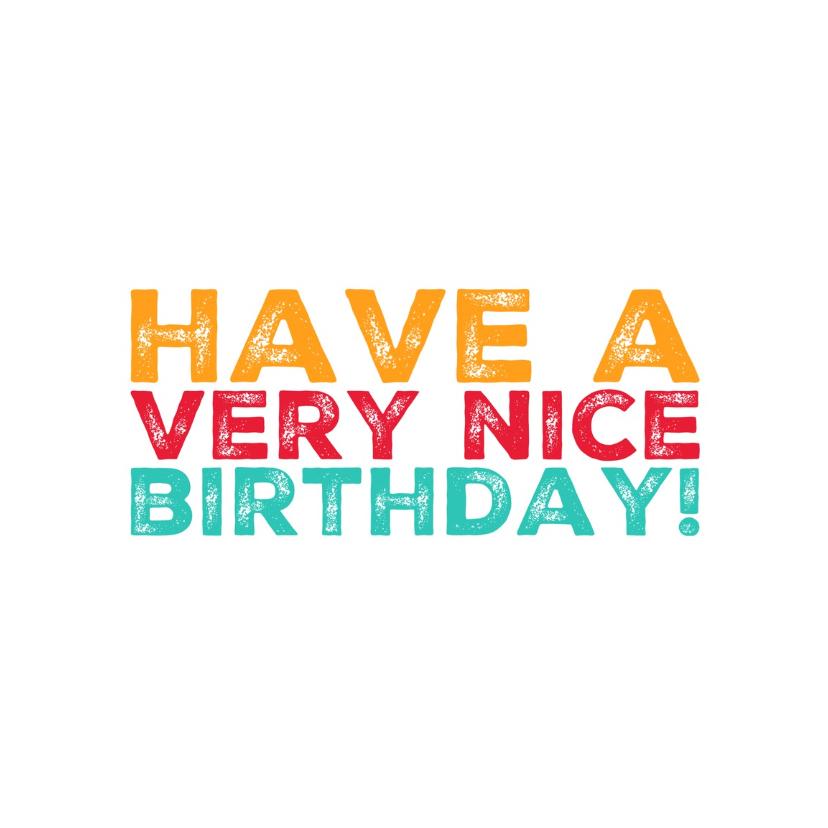 verjaardagskaart birthday -LB 1