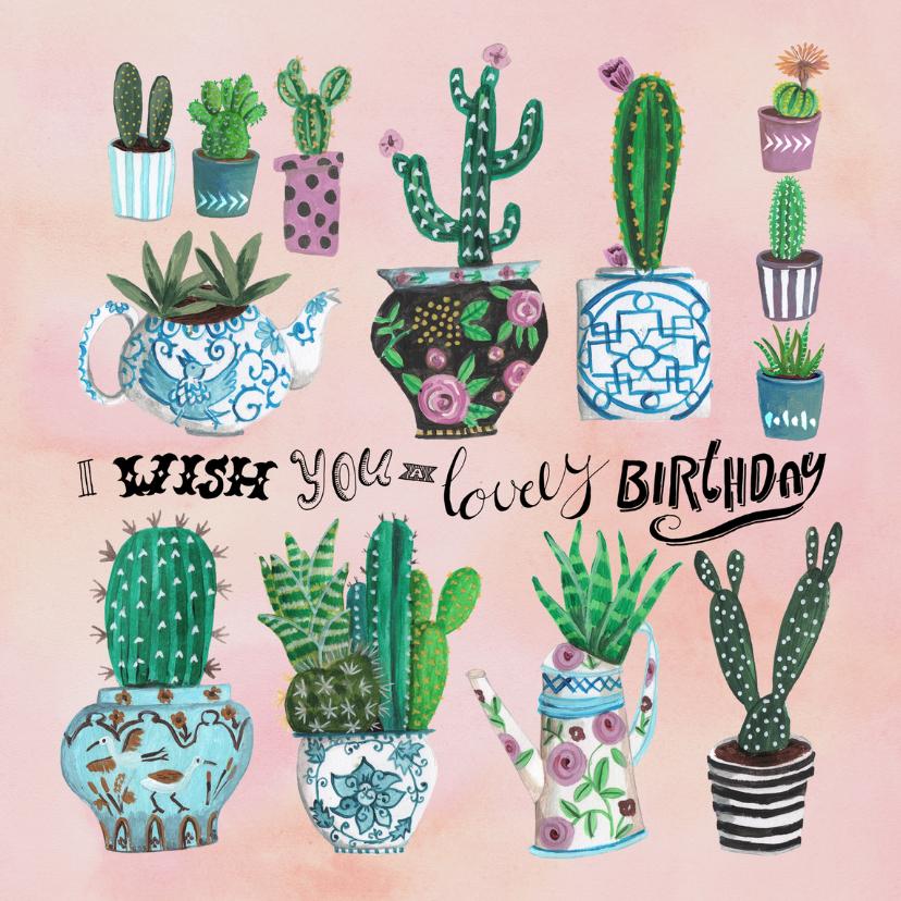 Verjaardagskaart cactus Birthday 1