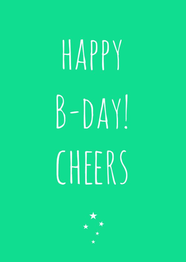Verjaardagskaart Cheers 1