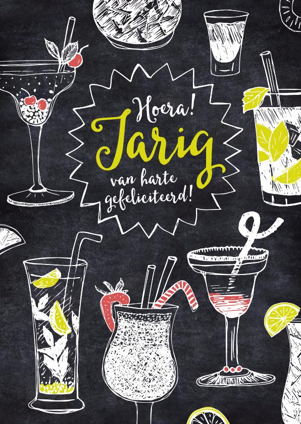 Verjaardagskaart cocktails krijt 1