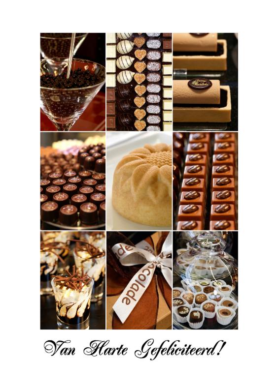 Verjaardagskaart collage chocolade 1