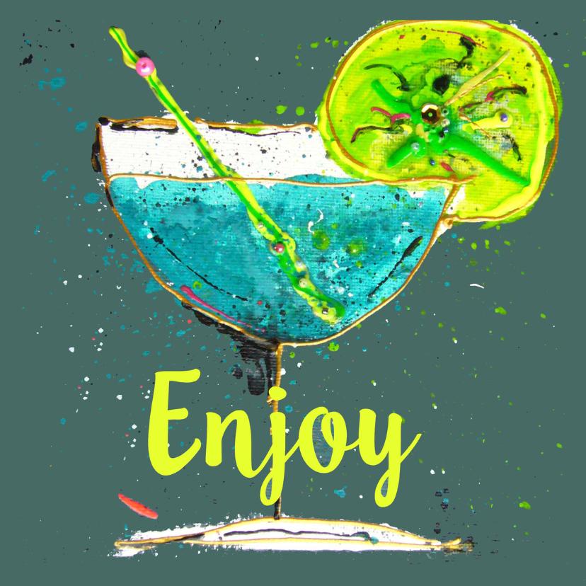 Verjaardagskaart Enjoy cocktail 1
