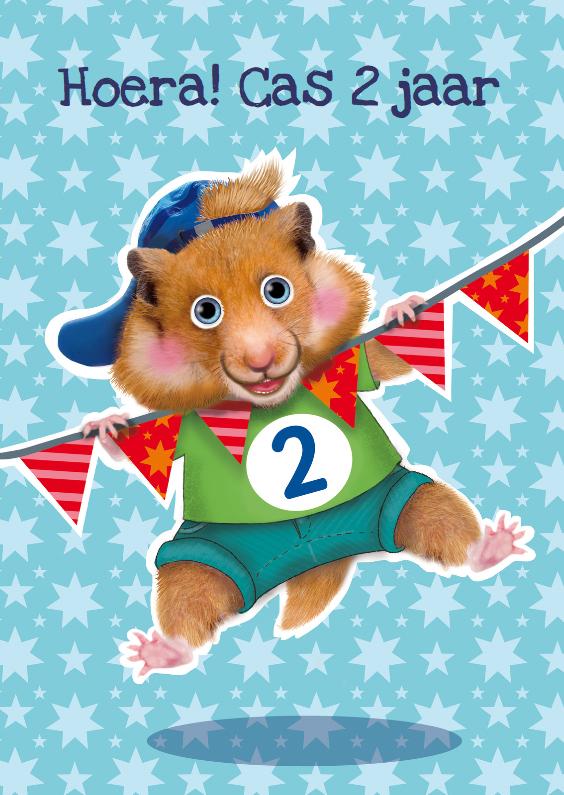 verjaardagskaart hamster jongen 2 jaar 1