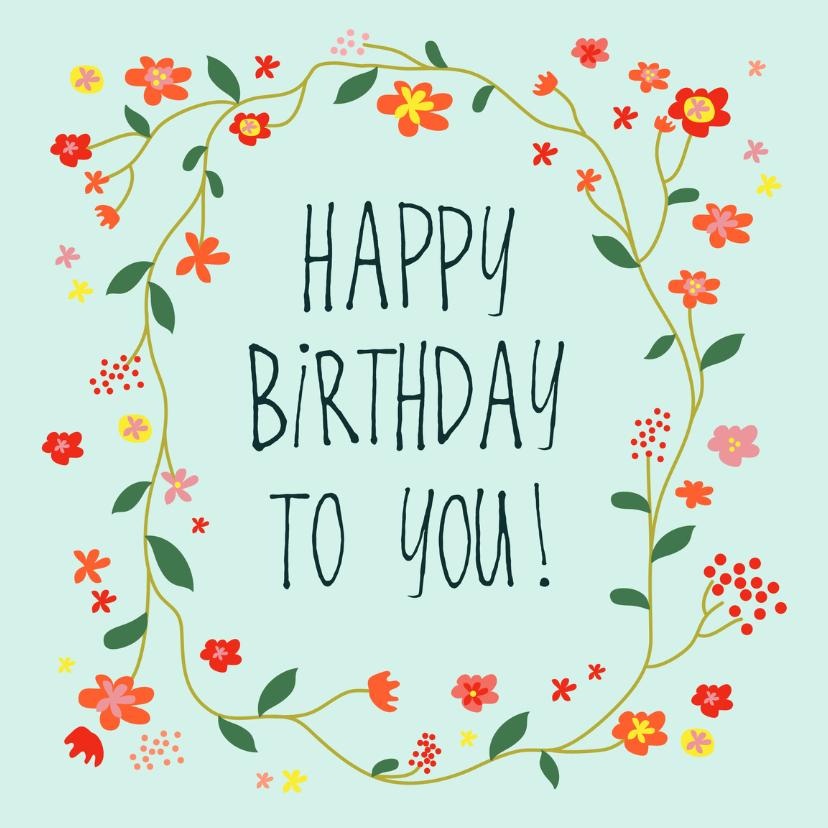 verjaardagskaart happy day! 1