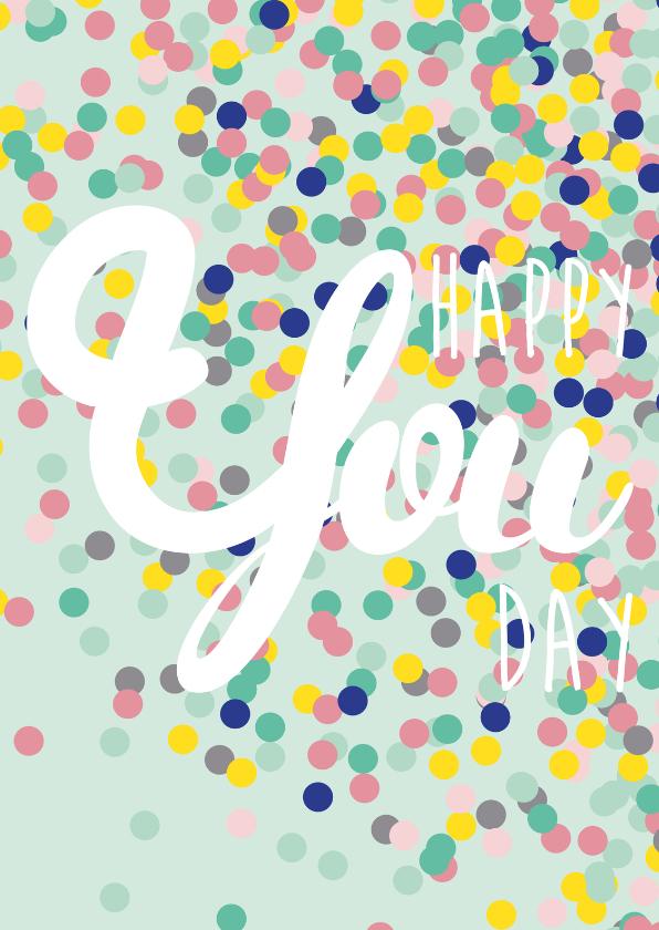 Verjaardagskaart Happy you day 1