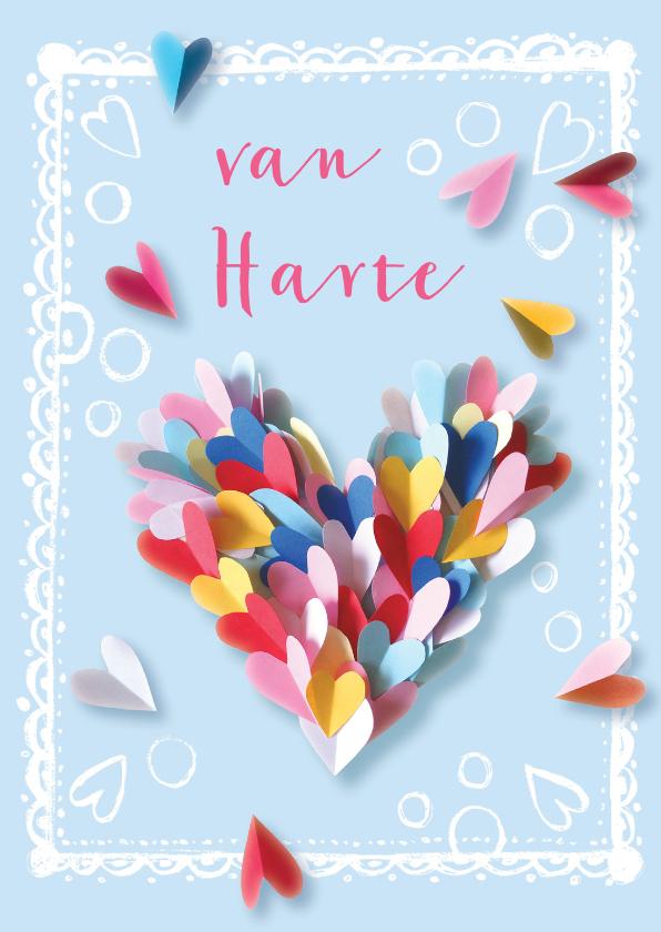 Verjaardagskaart hart hartjes 1